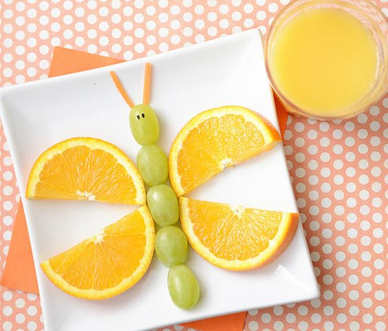 postre niños con naranjas